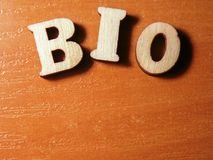 Wort Bio Stockbild