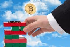 Wort Bitcoin als Konzept Stockfotos