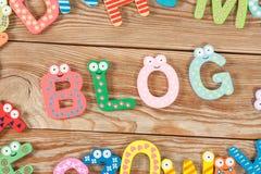 Wort BLOG-Buchstaben Stockbild