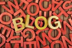Wort-Blog gemacht von den Buchstaben Lizenzfreie Stockfotografie