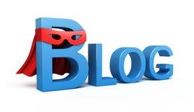 Wort-Blog. Konzept 3D Stockfotografie