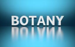 Wort-Botanik vektor abbildung