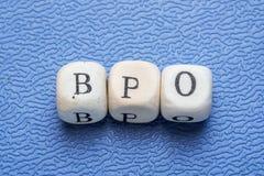 Wort bpo Lizenzfreies Stockfoto