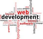 Wort clouod - Web-Entwicklung Lizenzfreies Stockfoto
