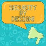 Wort, das mit Absicht Text Sicherheit schreibt Geschäftskonzept für Software ist von der Grundlage zum sicheren Megaphonfoto entw lizenzfreie abbildung