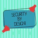 Wort, das mit Absicht Text Sicherheit schreibt Geschäftskonzept für Software ist von Grundlage zu Safe zwei Megaphon mit entworfe vektor abbildung
