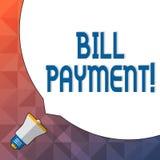 Wort, das Text Bill Payment schreibt Geschäftskonzept für die Geldüberweisung festgelegt auf vorbestimmtem Datum, um enormen frei lizenzfreie abbildung