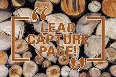 Wort, das Text Führungs-Gefangennahmen-Seite schreibt Geschäftskonzept für Landeplätze die Hilfen Führungen für die Förderungen s lizenzfreies stockbild
