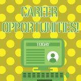 Wort, das Text Karriere-Gelegenheiten schreibt Geschäftskonzept für eine Möglichkeit oder eine Situation des Habens eines Jobb vektor abbildung