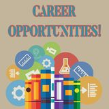 Wort, das Text Karriere-Gelegenheiten schreibt Geschäftskonzept für eine Möglichkeit oder eine Situation des Habens eine von J lizenzfreie abbildung