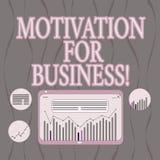 Wort, das Text Motivation für Geschäft schreibt Geschäftskonzept für Wunsch und Energie wird fortwährend an einem Job festgelegt vektor abbildung