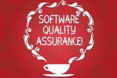 Wort, das Text Software-Qualitätssicherung schreibt Geschäftskonzept für die Gewährleistung von Qualität in Softwaretechnik Proze vektor abbildung
