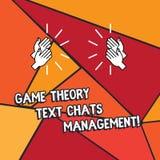 Wort, das Text Spieltheorie-Social Media-Management schreibt Geschäftskonzept für Spielinnovationsmarketingstrategien HU vektor abbildung