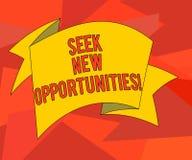 Wort, das Text Suchvorgang neue Gelegenheiten schreibt Geschäftskonzept für das Suchen einem neuen Job oder nach einem anderen Un vektor abbildung
