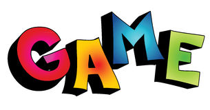 Wort des Spiels 3D getrennt lizenzfreie abbildung