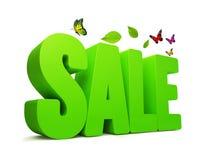 Wort des Verkaufs-Frühlings-Grün-3D Lizenzfreie Stockfotos