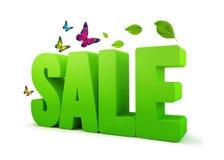 Wort des Verkaufs-Frühlings-Grün-3D Stockbild