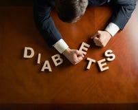 Wort-Diabetes und verheerende Mannzusammensetzung Stockbilder