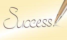 Wort-Erfolg geschrieben durch Stift Stockfoto