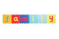 Wort-Familie Stockbild