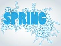 Wort-Frühling mit Blumen Stockfotografie