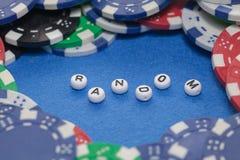 Wort ` gelegentlich mit Pokerchips stockfoto
