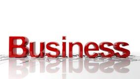Wort-Geschäft bricht den Boden Stockbilder