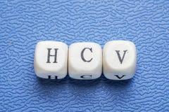 Wort hcv lizenzfreie stockbilder