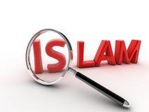 Wort-Islamkonzept des Bildes 3d Stockfotos