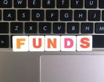 Wort-Kapitalien auf Tastaturhintergrund lizenzfreies stockbild