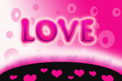 Wort-Liebe Stockbild