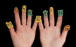 Wort-Marketing lizenzfreie stockfotografie