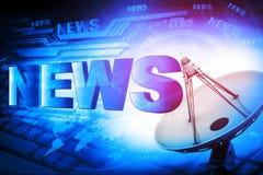 Wort-Nachrichten lizenzfreie stockfotos