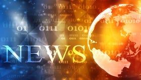 Wort-Nachrichten auf digitalem Hintergrund lizenzfreie stockfotos