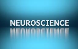 Wort-Neurologie auf blauem Hintergrund lizenzfreie abbildung