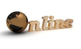 Wort online Stockfoto