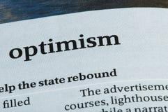 Wort-Optimismus stockbilder