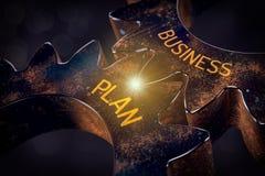 Wort-Plan-Ideen-Aktion und Geldsack stockbild