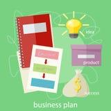 Wort-Plan-Ideen-Aktion und Geldsack Lizenzfreies Stockbild