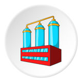 Wort preparation icon, cartoon style. Wort preparation icon in cartoon style isolated on white circle background. Production of alcohol symbol vector Royalty Free Stock Photos