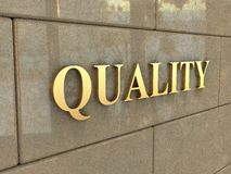 Wort-Qualität Lizenzfreies Stockbild
