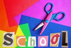 Wort-Schule Stockfoto