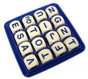 Wort-Spiel Stockbild
