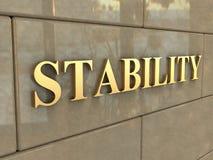 Wort-Stabilität Lizenzfreie Stockbilder