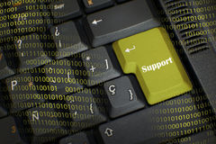 Wort SUPPORT Stockfotos