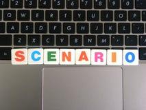 Wort-Szenario auf Tastaturhintergrund Lizenzfreie Stockfotografie
