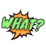 Wort-Text-Grün was? Vektor-Bild Lizenzfreie Stockfotos