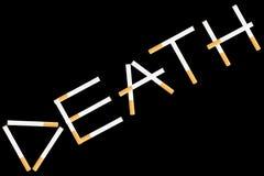 Wort-Tod von den Zigaretten Stockbild