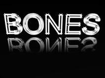 Wort von Knochen. lizenzfreie abbildung