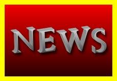 Wort von Nachrichten in 3D Stockfotos